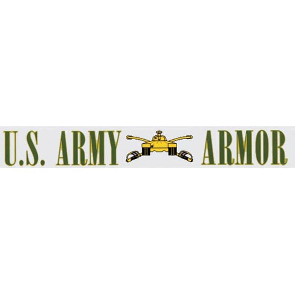 US Army Armor Window Strip Decal - Star Spangled 1776