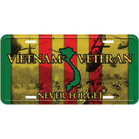 Vietnam Veteran 6 X 12 Metal License Plate - Star Spangled 1776
