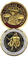 Armor of God Soldier Challenge Coin - Star Spangled 1776