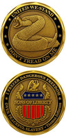Don't Tread on Me Challenge Coin - Star Spangled 1776