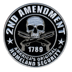 2nd Amendment Round Hook Back Patch 4""
