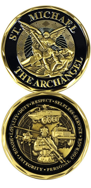 Saint Michael Infantry Challenge Coin - Star Spangled 1776