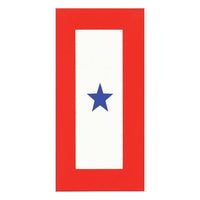 One Star Blue Star Service Banner Decal - Star Spangled 1776