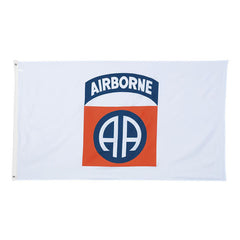 82nd Airborne Division Polyester 3 X 5 Military Flag- White