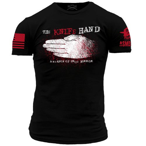 Knife Hand T-Shirt- Grunt Style ASMDSS Men's Short Sleeve Tee Shirt - Star Spangled 1776