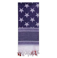US Flag Shemagh Tactical Desert Scarf - Star Spangled 1776