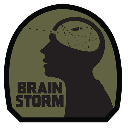 Brain Storm Embroidered Morale Hook Back Patch - Star Spangled 1776