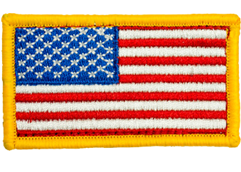 American Flag Full Color Hook Back Youth Patch - Star Spangled 1776