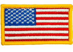 American Flag Full Color Hook Back Youth Patch