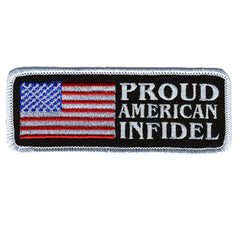 American Infidel Embroidered Hook Back Patch