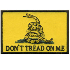 Don't Tread on Me Embroidered Hook Back Patch