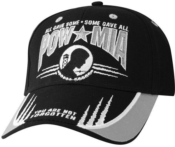 POW MIA Shark Fin Embroidered Military Ball Cap - Star Spangled LLC