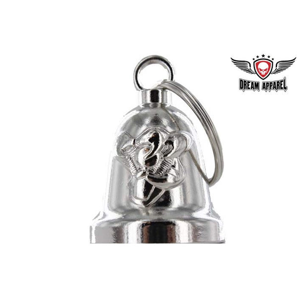 Gripping V-Twin Engine Chrome Motorcycle Bell - Star Spangled 1776