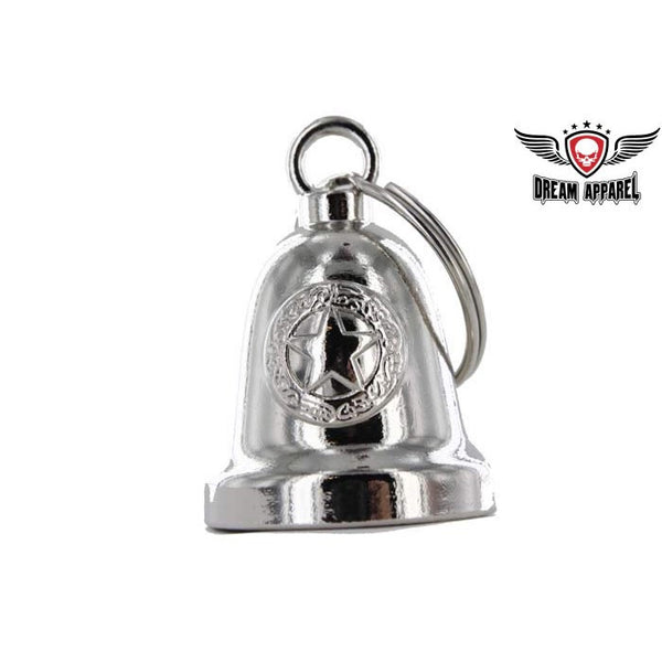 Police Star Chrome Motorcycle Bell - Star Spangled 1776