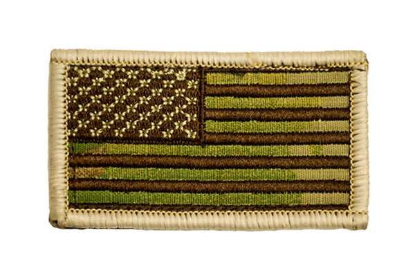 Combat American Flag Hook Back Patch- 2 7/8 X 1 5/8 - Star Spangled 1776