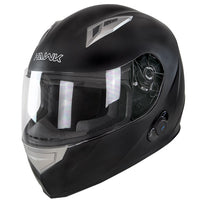 Hawk H500 Flat Black Bluetooth Helmet - Star Spangled 1776