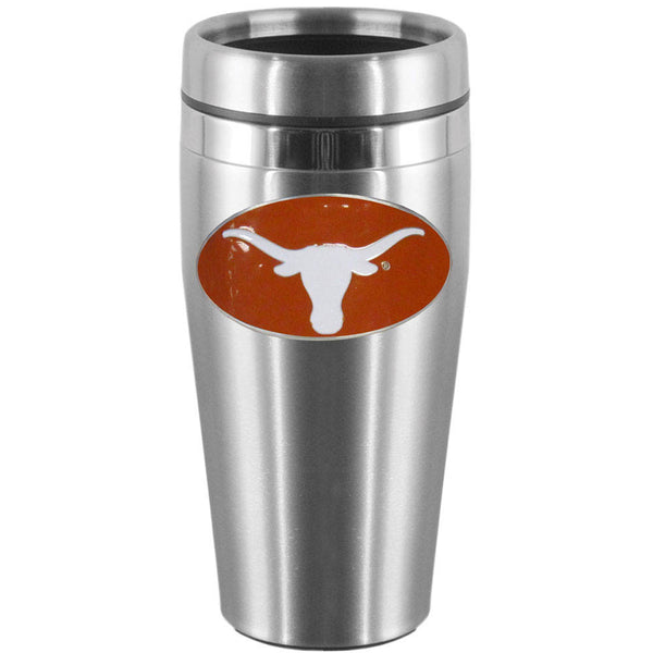 Texas Longhorns NCAA College Football Steel Travel Mug - Star Spangled 1776
