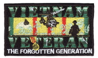 Vietnam Veteran Forgotten Hook Back Patch - Star Spangled 1776
