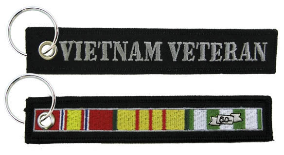 "Vietnam Veteran Embroidered 6"" Key Chain - Star Spangled 1776"
