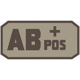AB POS (+) Embroidered Hook Back Patch - Star Spangled 1776