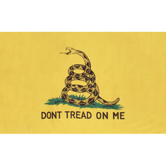 Don't Tread On Me Polyester 3' X 5' Flag- Yellow