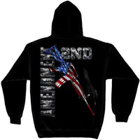 AR15 Second Amendment Flag Hooded Sweatshirt - Star Spangled 1776