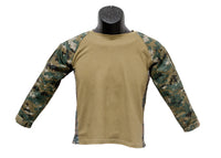 Youth Military Combat Battle Shirt - Digital Woodland - Star Spangled 1776