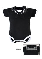 Navy Sailor Cotton Onesie Bodysuit Black - Star Spangled 1776