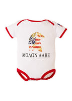 Molon Labe Infant Cotton Onesie Bodysuit - Star Spangled 1776