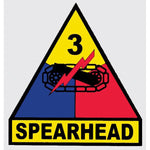 3rd Armored Division (Spearhead) Army Military Decal - Star Spangled 1776