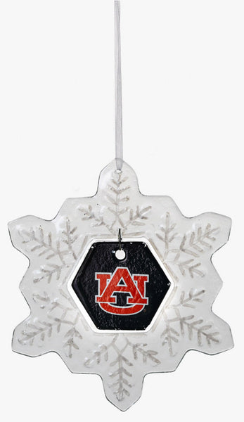 Auburn Tigers Glass Snowflake Ornament - Star Spangled 1776