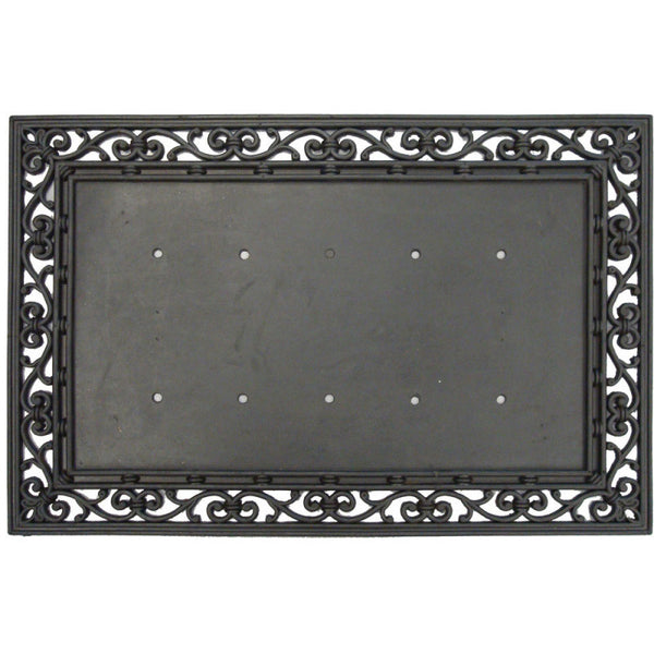 Rubber Traditional Black Doormat Base - Star Spangled 1776