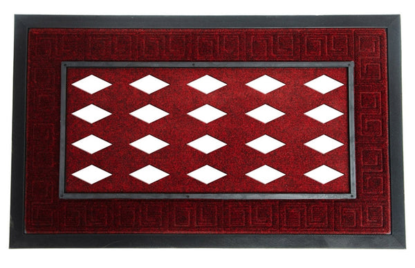 Sassafras Burgandy Decorative Doormat Tray - Star Spangled 1776