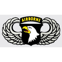 101st Airborne Division Eagle with Wings Army Decal - Star Spangled 1776