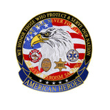 "American Heroes Embroidered 5"" Patch - Star Spangled 1776"