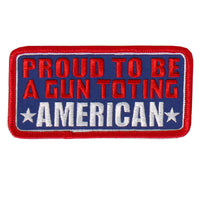"Proud Gun Toting American Embroidered 4"" X 2"" Patch - Star Spangled 1776"