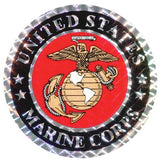 USMC Marines with Eagle Globe and Anchor Logo Decal - Star Spangled 1776