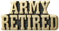 Army Retired Stacked Text Lapel Pin - Star Spangled 1776