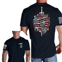 Righteous Man T-Shirt- Nine Line Men's Short Sleeve Tee Shirt - Star Spangled 1776