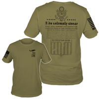 Oath OD Green T-Shirt- Nine Line Men's Short Sleeve Tee Shirt - Star Spangled 1776