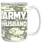 Army Husband Ceramic Coffee Mug - Star Spangled 1776