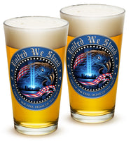 16 Ounces Pint Glass United We Stand