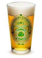 16 Ounces Pint Glass Firefighter Irelands Bravest