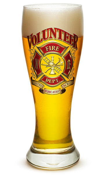23 Ounces Pilsner Glass Volunteer Firefighter