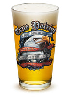 16 Ounces Pint Glass TRUE PATRIOT - Star Spangled 1776