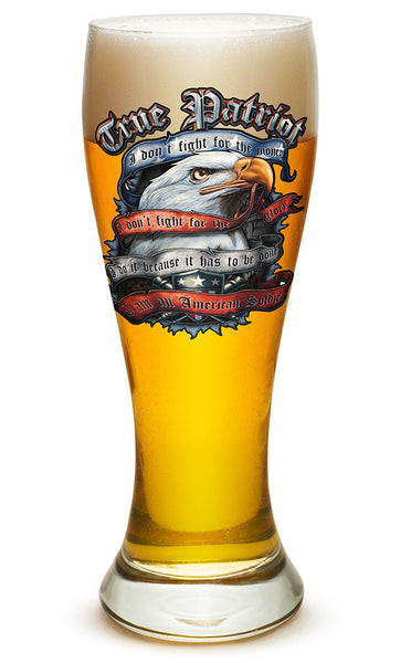 23 Ounces Pilsner Glass TRUE PATRIOT - Star Spangled 1776