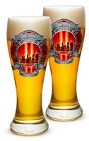 23 Ounces Pilsner Glass Red Tribute High Honor Fire Fighter