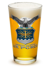 16 Ounces Pint Glass Air Force USAF Missile