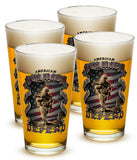 16 Ounces Pint Glass American Soldier - Star Spangled 1776