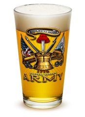 16 Ounces Pint Glass Army Antique Armor